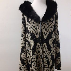 Chico's Cardigan Knit Sweater womens size 2 Long